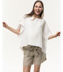 bluzka ciążowa lniana biała