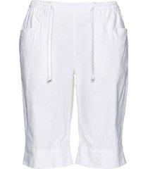 bermuda in misto lino (bianco) - bpc bonprix collection
