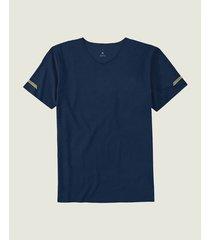 camiseta em malha dry com refletivos malwee liberta azul escuro - g
