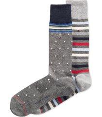tommy hilfiger print trouser socks, 2 pack