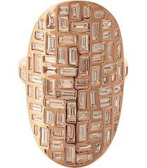 18kt rose gold mosaic diamond ring