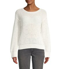 textured long-sleeve sweater