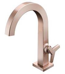 torneira para lavatório de mesa bica alta city cobre escovado