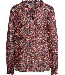 blouse met bloemenprint amory  rood