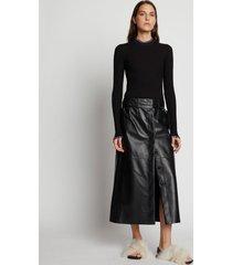 proenza schouler leather wrap skirt black 12