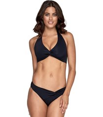 jets by jessika allen twist front bikini black