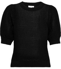 celenapw pu t-shirts & tops knitted t-shirts/tops zwart part two