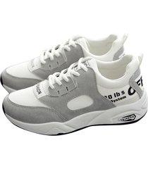 zapatillas de plataforma de running casual para mujer zapatillas-blanco