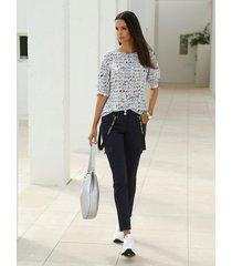 blouse amy vermont wit::marine