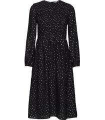 tjw smock detail midi dress knälång klänning svart tommy jeans