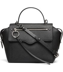 gabby satchel bags top handle bags zwart rebecca minkoff