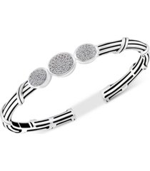 peter thomas roth white topaz cuff bracelet (3/4 ct. t.w.) in sterling silver