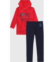 conjunto rojo-azul oscuro boboli