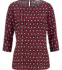 blus alba moda svart::röd::vit