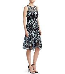 rose island lace knee-length dress