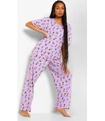 mix & match disney slechteriken pyjama leggings, lilac