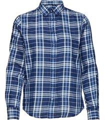 o1. fine twill shirt overhemd met lange mouwen blauw gant