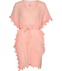 mini tassel gauze kaftan beach wear rosa seafolly