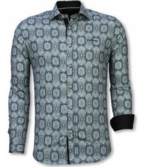 overhemd lange mouw tony backer blouse ornament pattern