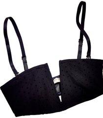 women's free people intimately fp sierra bandeau wireless bra, size small - black