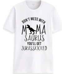 dinosaurio personalidad cuello redondo poliéster algodón señoras camiseta de manga corta