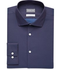 michael kors blue & red woven slim fit dress shirt
