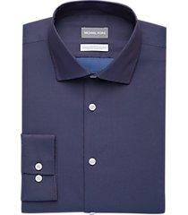 michael kors blue & red woven slim fit dress shirt