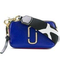 marc jacobs bolsa transversal 'snapshot' de couro - azul