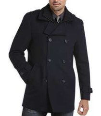 egara dark navy modern fit wool peacoat