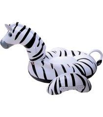 "swimline giant zebra 97"" inflatable ride-on pool toy"