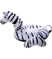 "swimline giant zebra 97"" inflatable ride-on swimming pool toy"