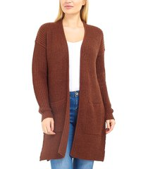 cardigan brave soul marrón - calce regular