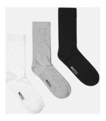 wesc kennedy basic crew socks, 3 pack