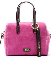 frances valentine leather satchel - pink