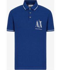 ax armani exchange men's logo polo shirt