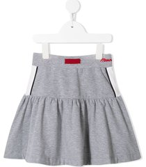 monnalisa flared jersey skirt - grey