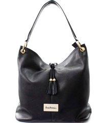 bolsa sacola maria verônica couro floater preto