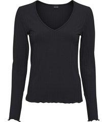 maglia a costine con maniche lunghe (nero) - bodyflirt