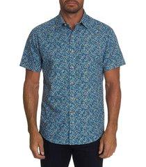 robert graham men's vertliner printed sport shirt - size l