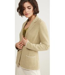 giacca punto cesto bicolor