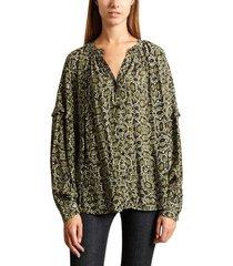 tubin snakeskin blouse