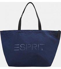 bolso de mano azul marino esprit