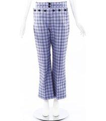 marni blue checked wool pants blue/black sz: s