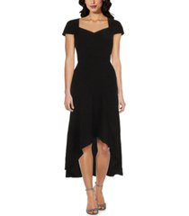 adrianna papell sweetheart-neck high-low dress