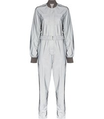 kirin reflective bomber jumpsuit - silver