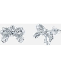 ted baker women's callayy: crystal petite bow stud earrings - silver/crystal