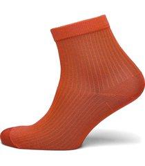 sock low shiny rib lingerie hosiery socks orange lindex