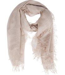 beige cashmere-silk blend scarf