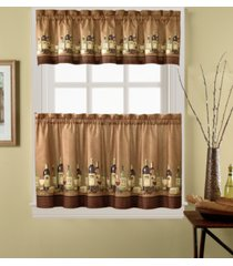 "chf wines 36"" window tier & valance set"