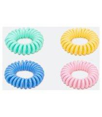 kit 4 elásticos em formato de mola na caixinha | accessories | multicores | u